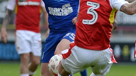 Danny Rowe in action at Rotherham on Saturday. Photo: PAGEPIX