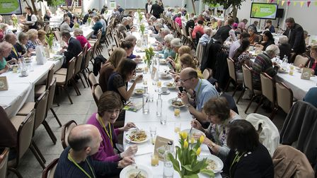 East of England Co-op members ejoying lunch following last year's Annual Members' Meeting. Picture: