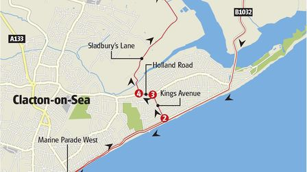The Tour of Britain's time trial stage in Clacton. Picture: GRAPHICS UNIT