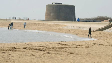 Martello Bay in Clacton, where the time trial stage of the Tour of Britain starts and ends. Picture: