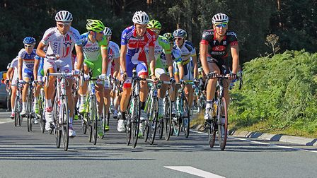 The Tour of Britain passing though Bromeswell during the Tour Of Britain in 2012. Picture: COLIN BAR