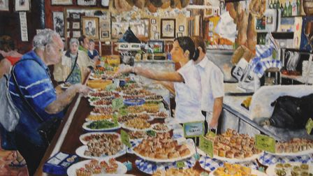 Tapas, one of Mike Ferrell's personal favourites from his farewell exhibition at Ipswich Town Hall.