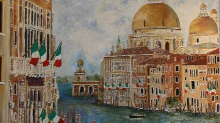 Venice, a picture which had extensive re-oainting, and is now one of Mike Ferrell's personal favouri