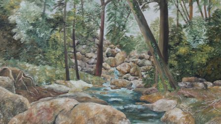 Becky Falls, Devon, one of Mike Ferrell's personal favourites from his farewell exhibition at Ipswic