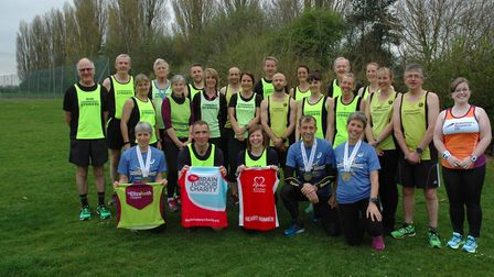 Members of Stowmarket Striders who are targeting marathons during 2017