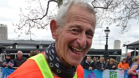 Mac Speake, who has run all the previous 36 London Marathons and is poised make it 37 out of 37 tomo