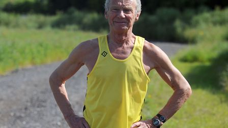 Andy Wilmot, of Halstead Road Runners, who will rattle up his 711th marathon at London, a remarkable