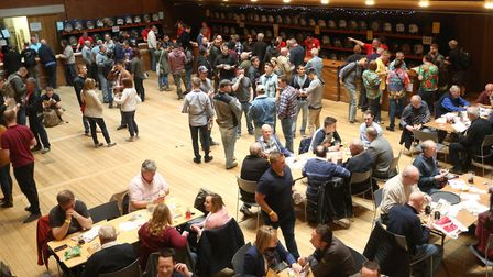 Visitors enjoy the East Anglian Beer and Cider festival at The Apex in Bury St Edmunds. Picture: RI