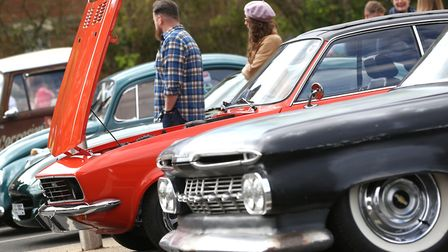 Visitors enjoy the classic car show at West Suffolk College. Photo: Richard Marsham/RMG Photography