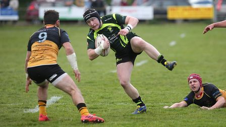 Will Affleck on the ball for ths hosts. Picture: Richard Marsham - RMG Photography