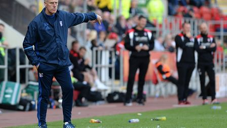 Ipswich manager Mick McCarthy watches his team at Rotherham. Photo: PAGEPIX