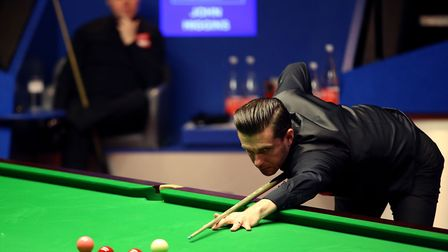 Mark Selby during day seventeen of the Betfred Snooker World Championships at the Crucible Theatre,