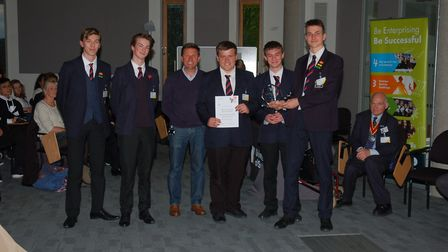 The Quality Sweets team from Stradbroke High School, overall runners-up in the Suffolk Young Enterpr