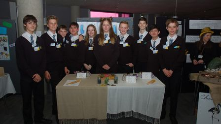 The Light team from East Bergholt High School, finalists in the Suffolk Young Enterprise competition