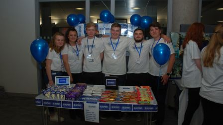 The Blueprint team from Alde Valley Adademy, finalists in the Suffolk Young Enterprise competition f