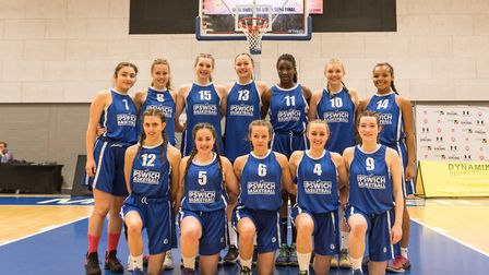 The Ipswich Basketball Under 16 Girls side which reach the National Final in Manchester. Photo: PAVE