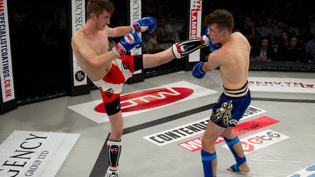 Ben Sell, left, will defend his youth K1 title