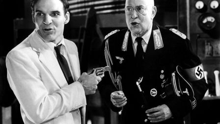 Steve Martin and Carl Reiner in the film noir homage Dead Men Don't Wear Plaid. Picture: CONTRIBUTED