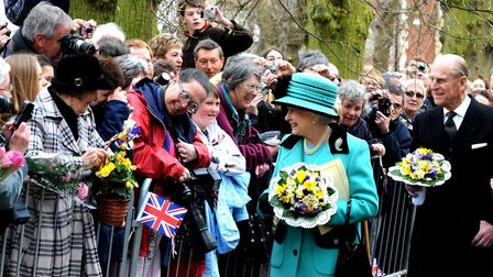 The Queen and the Duke of Edinburgh in Bury St Edmunds for the historic Maundy Thursday distribution