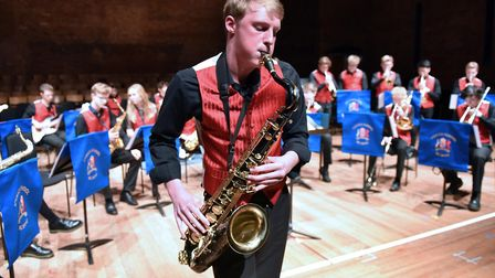 The big band in action at this year's Ipswich School Spring Concert, at Snape Maltings. Photo: James