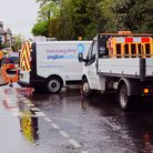 Burst water main in Holbrook - in the same place as in March, when it caused a sinkhole at the junc
