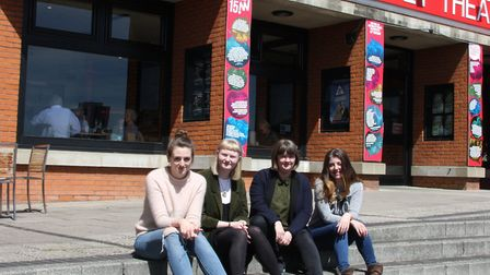 Members of the StartEast team outside the New Wolsey Theatre in Ipswich, from left, Marnie Botwrigh