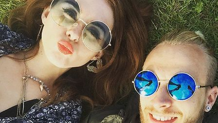 Rebecca Pizzey with friend Jake at Radio 1's Big Weekend in Norwich, 2015. Picture: REBECCA PIZZEY