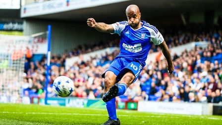 David McGoldrick in action for Town. Picture: STEVE WALLER