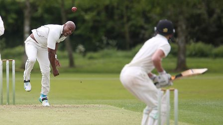 Tino Best, who took two early wickets in Mildenhall's five-wicket defeat at unbeaten Great Witchingh