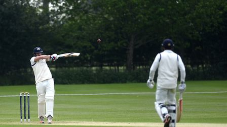Jaik Mickleburgh, who scored 99 in Copdock & Old Ipswichian's three-wicket win over Horsford. Pictur