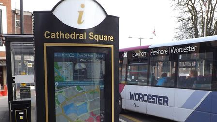 Smart NE's software is used to power this public kiosk located in Cathredal Square Worcester