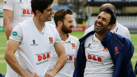 Alastair Cook (left) and Ravi Bopara, in good form at Kent