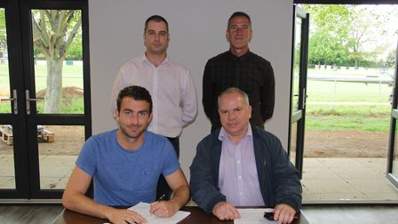 Back, from left: Kevin O'Donnell and Ian Watson (Joint-managers); Front, from left: Joe Francis, Ton