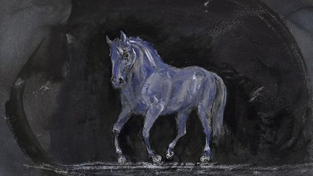 Horse Approaching by Tory Lawrence, part of her new Horses and Birds exhibition. Picture: DOUG ATFIE