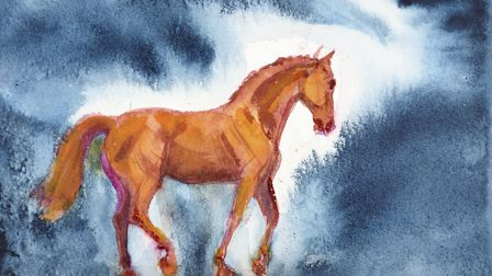 Night Horse 2 by Tory Lawrence, part of her new Horses and Birds exhibition. Picture: DOUG ATFIELD