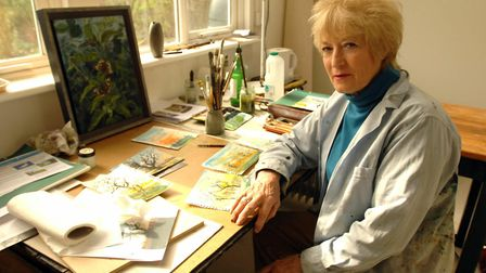 Artist Tory Lawrence in her studio.
