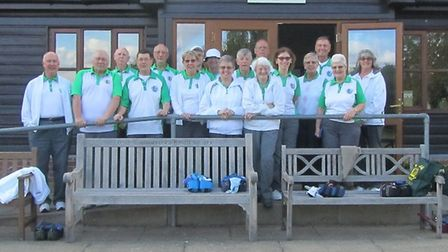 The two Boxford teams in front of their clubhouse