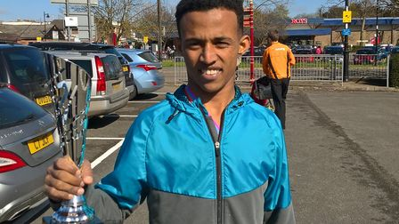 Ramadan Osman, who was second at the Colchester 10K road race last weekend.