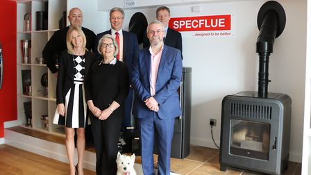 The Specflue directors team: from left, back row, Lee George, operations manager, Ian Sams, commerc