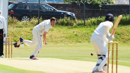Sudbury bowler James Poulson, who took two for 26 in the Suffolk's side big win over Grreat Witching