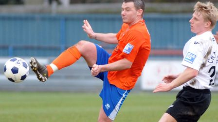 Popular appointment. New Braintree Town boss, Bradley Quinton, when he used to play for Iron.