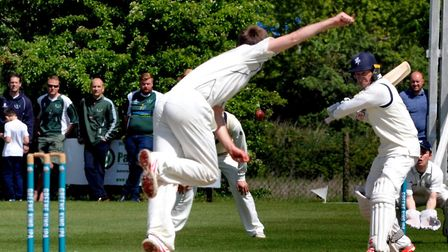Martyn Cull, who scored the winning runs at Northumberland. Suffolk needed just one ball in their se