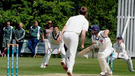 Jaik Mickleburgh scores more runs duuring his innings of 46 at the top of the order for Suffolk, in