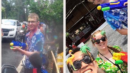 Joe Le Maire enjoying the Songkran festival in Thailand - a three-day water fight!