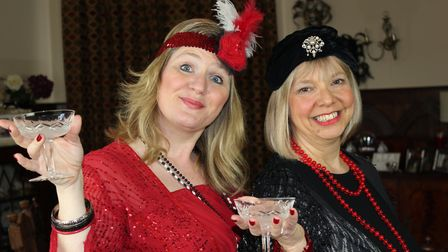 Meryl Bunce in the title role of Mame and Karen Long as Vera in SODS' spring production of the accla