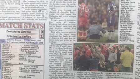Flashback: Coverage of the pitch invasion at Doncaster Rovers in 1998, during the last game of the s
