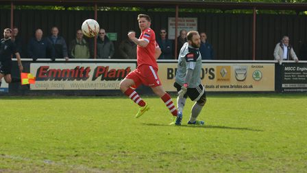 John Sands and Needham Market could be playing the Suffolk Premier Cup final at AFC Sudbury if Colch