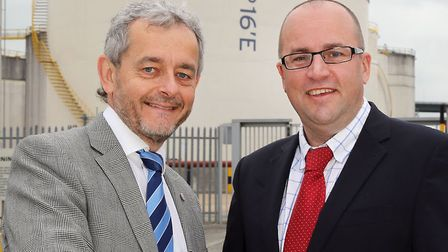 David Cant, left, partner and director of business development at Birkett Long, with Navigator Termi