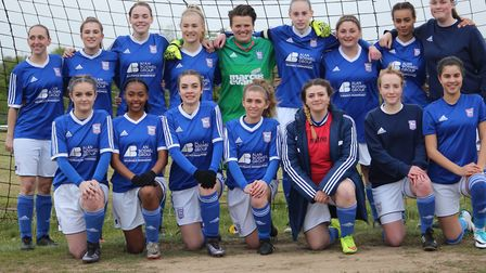 The Ipswich Town Ladies Development Squad before their Suffolk League Cup final win
