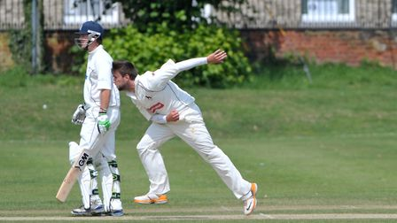 James Poulson, who took four for 36 in Sudbury's win over Norwich at Friars Street on Saturday. Pict